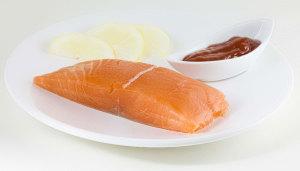 pavé de saumon fumé